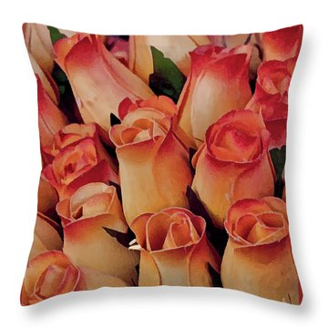 Favorite Roses Throw Pillow by Michael Flood