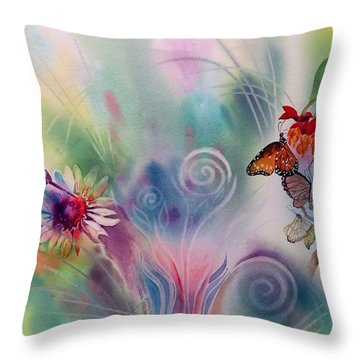 Favorite Things Throw Pillow by Tara Moorman