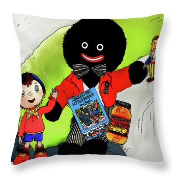 Throw Pillow featuring the digital art Favourite Childhood Memories by Pennie  McCracken
