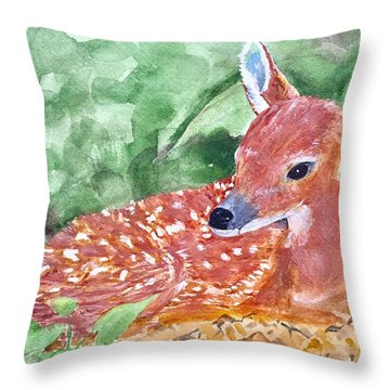 Fawn 2 Throw Pillow