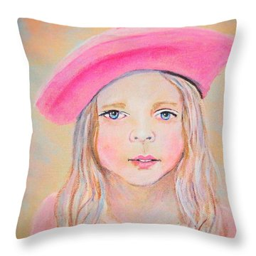 Fayanna Little French Angel Of Trust Throw Pillow by The Art With A Heart By Charlotte Phillips