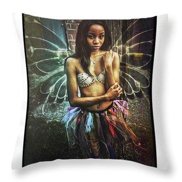 Faye Dona II Throw Pillow by Donald Yenson