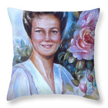 Faye Throw Pillow by Patricia Schneider Mitchell