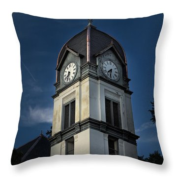Fayette County Courthouse Throw Pillow