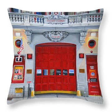 Fdny Engine Company 65 Throw Pillow