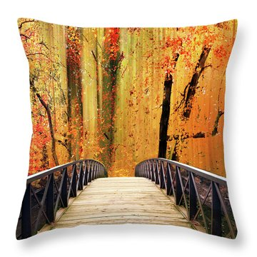Throw Pillow featuring the photograph Forest Fantasia by Jessica Jenney