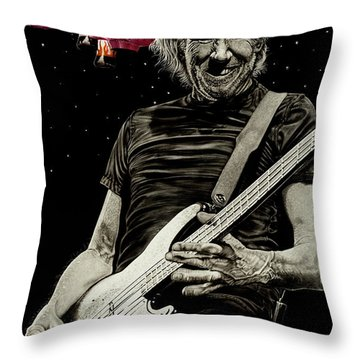 Fear Builds Walls Throw Pillow