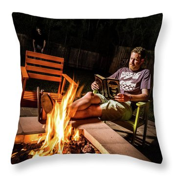 Throw Pillow featuring the photograph Fear By Fire by T Brian Jones