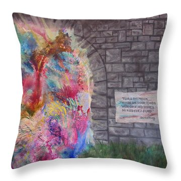 Fear Is The Prison... Throw Pillow by Denise Hoag