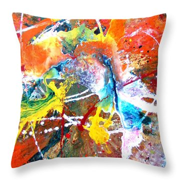 Fear Of Flying Throw Pillow by Pearlie Taylor