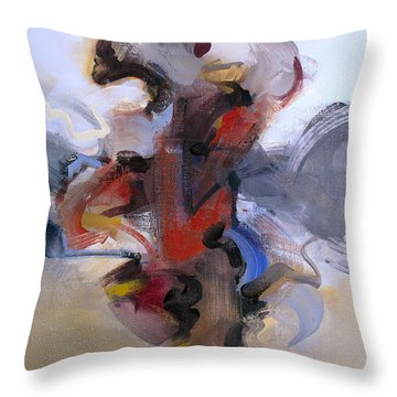 Fear Of Holding On Throw Pillow