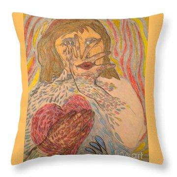 Fear Of Losing Boundaries Throw Pillow