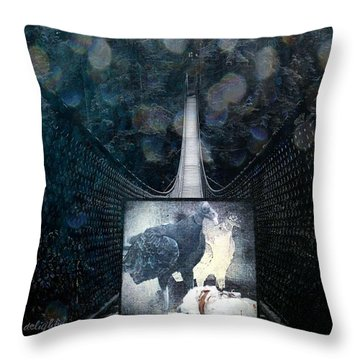 Fear Of Stairs Throw Pillow