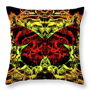 Fear Of The Red Admirals Throw Pillow