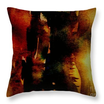 Fear On The Dark Throw Pillow by Rushan Ruzaick