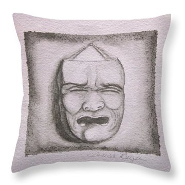 Throw Pillow featuring the painting Fear by Teresa Beyer
