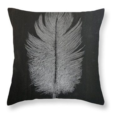 Throw Pillow featuring the pastel Feather 1 by Richard Le Page