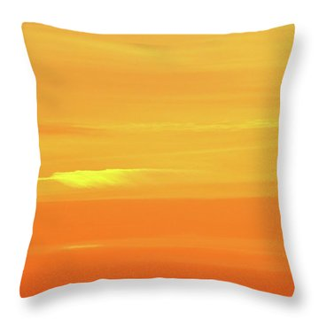 Feather Cloud In An Orange Sky  Throw Pillow by Lyle Crump