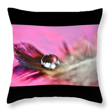 Feather Drop Throw Pillow by Diane Alexander