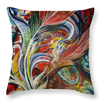 Feather Fury Throw Pillow