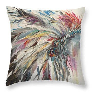 Feather Hawk Throw Pillow