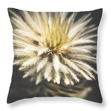 Feather-head Flannel Bush Flower Throw Pillow