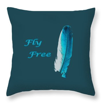 Feather Of Free Flight Throw Pillow by Aliceann Carlton