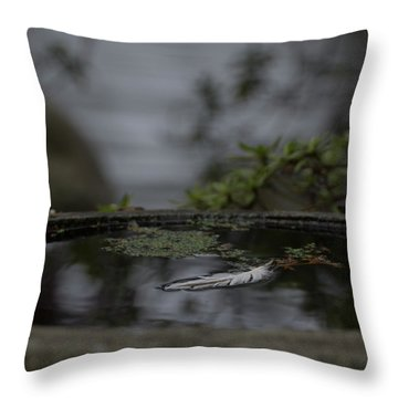 A Feeling Of Floating Weightlessly Throw Pillow