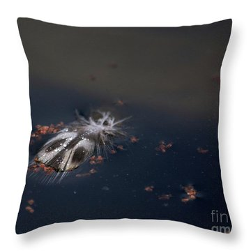 Featherbug Throw Pillow