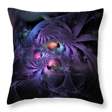 Feathered Cage Throw Pillow