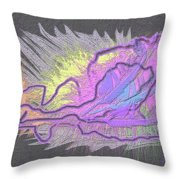 Feathered Daydreams Throw Pillow