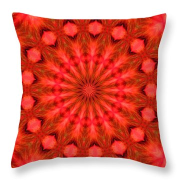 Feathered Rouge Throw Pillow