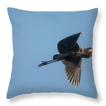 Throw Pillow featuring the photograph Feathering The Nest by David Bearden