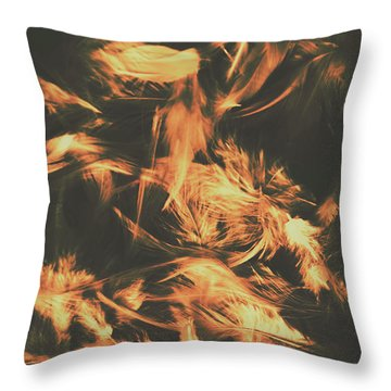 Feathers And Darkness Throw Pillow