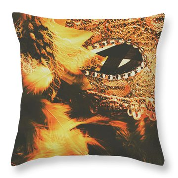 Feathers And Femininity  Throw Pillow