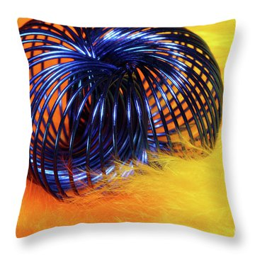 Feathers And Jewelry  Throw Pillow