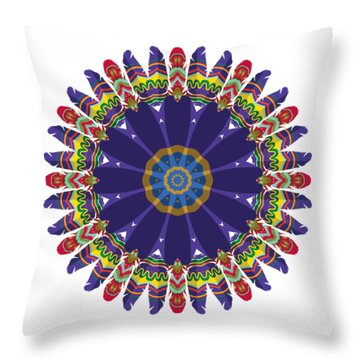 Feathers In The Round Throw Pillow by Mary Machare