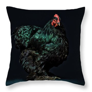 Feathers Throw Pillow by John Towner
