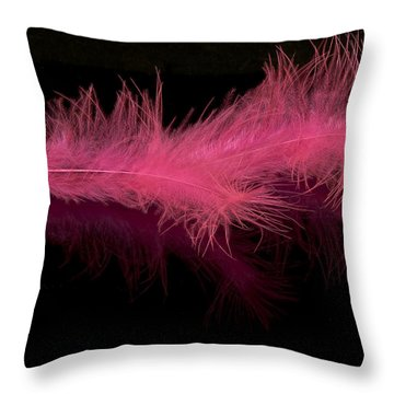 Feathers Throw Pillow by Svetlana Sewell