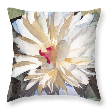 Feathery Flower Throw Pillow
