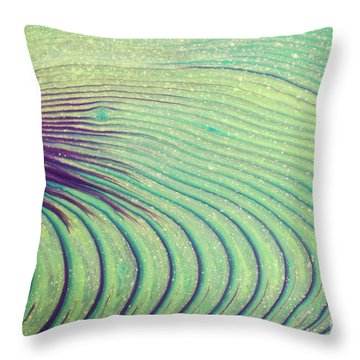 Feathery Ripples Throw Pillow by Julie Clements