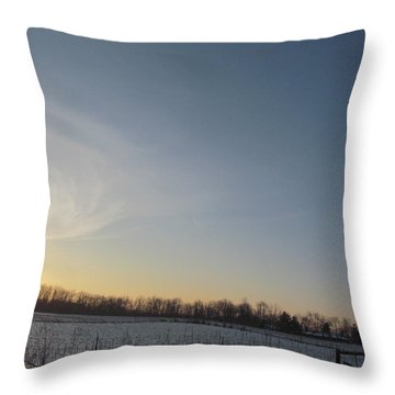 February 28 2013 Sunrise Throw Pillow