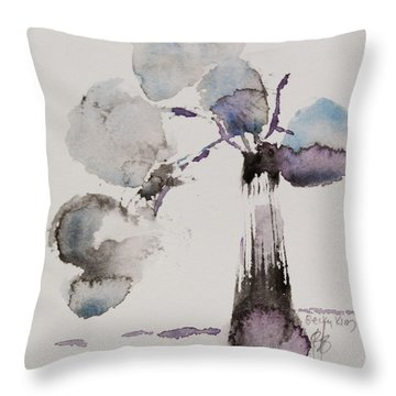 February Throw Pillow by Becky Kim