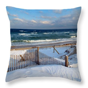 February Delight Throw Pillow by Dianne Cowen