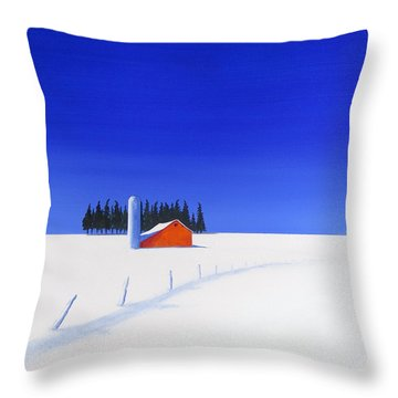 February Fields Throw Pillow