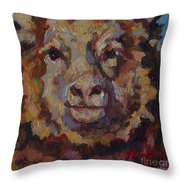 February Throw Pillow