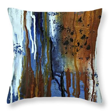 February Rain Throw Pillow