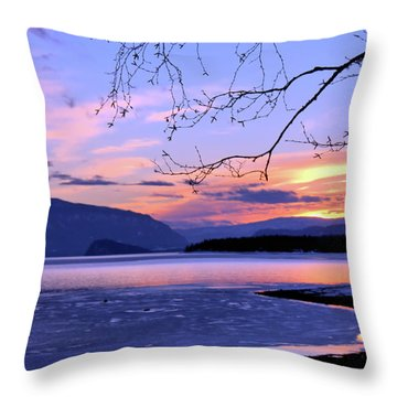 February Sunset 2 Throw Pillow by Victor K