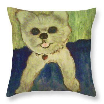 Fed Ex Doggie Throw Pillow