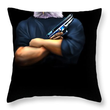 Fed Up 2 Throw Pillow by Reggie Duffie